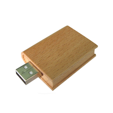 Students gifts 32GB USB 2.0 rectangle wooden book shaped usb flash drive