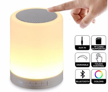 Portable led wireless speaker table lamp touch sensor led table lamp with mini speaker
