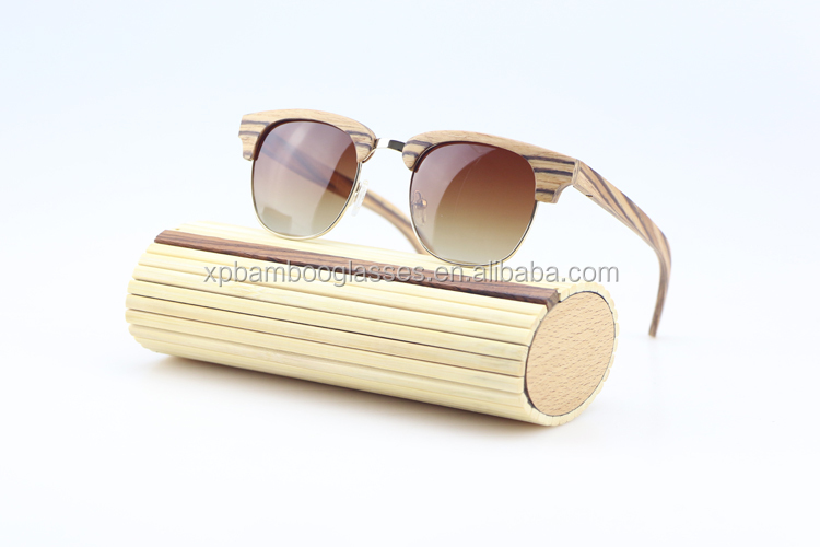 Handmade Costa Del Mar Half frame Zebra Wood Polarized Sunglasses Dropshipping