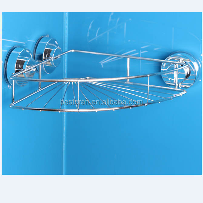 Suction Stainless Steel Bathroom shelf for Bath Shower