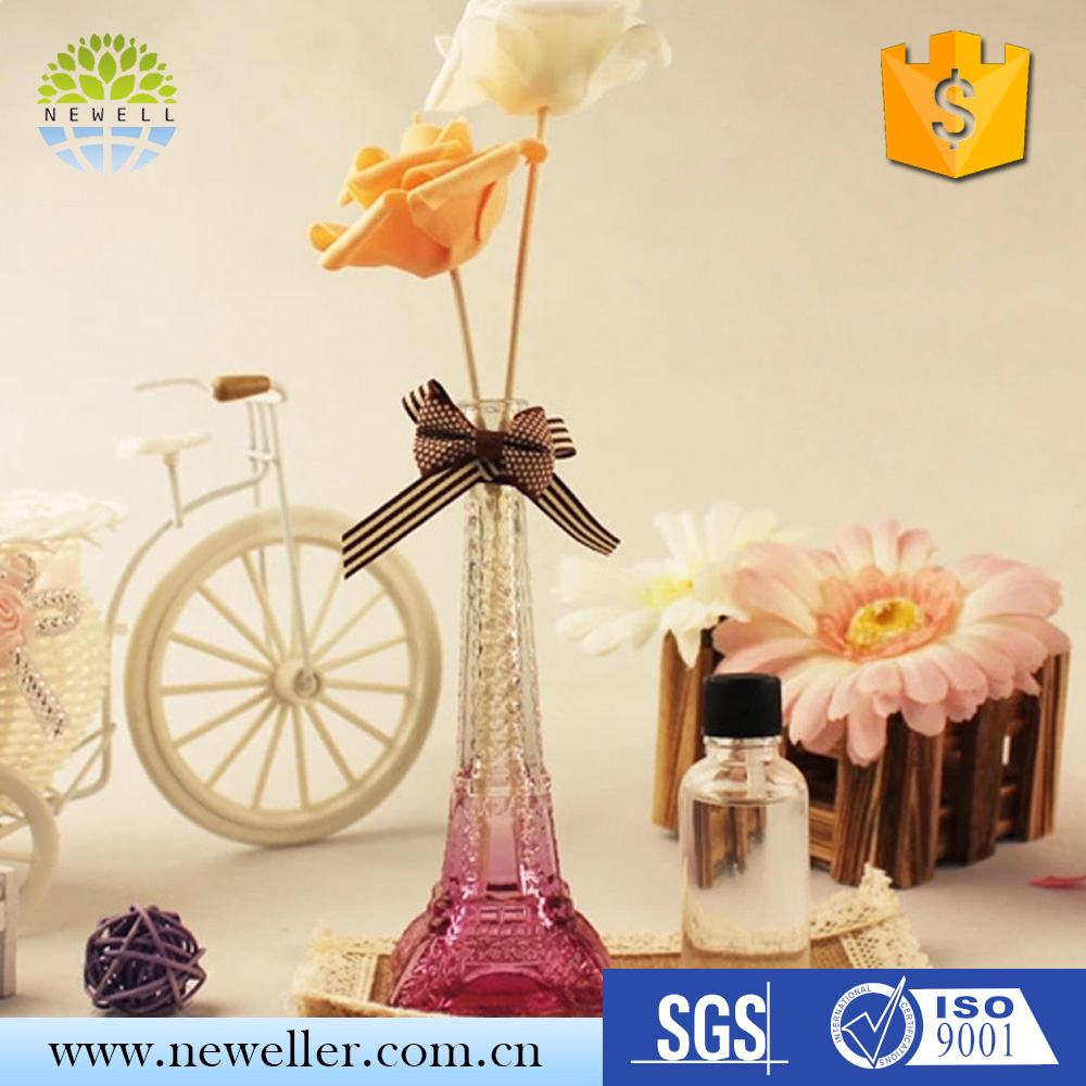Wholesale market decorative aroma car reed diffuser in glass holder