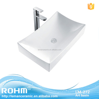 LM-272 Make in China Ceramic Sinks Bathroom Above Counter Mounting Art Basin