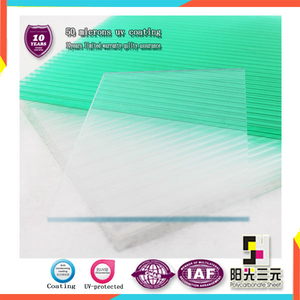 clear polycarbonate solid sheet for green house roof