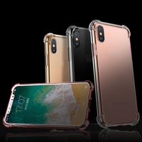 Strong Bumper Clear Transparent Case for iPhone X 8 7 6 6s plus Airbag Corner Cover