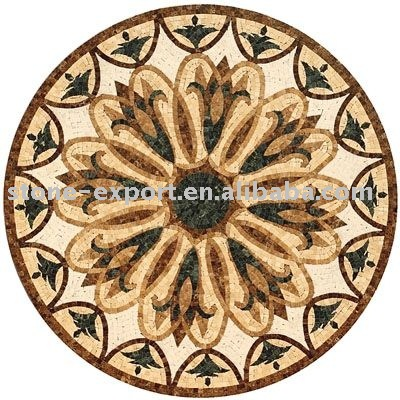 water-jet mosaics,mosaic art,flower medallion