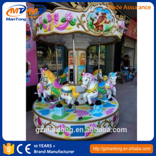 CHEAPEST!!!Manufacturer electronic Carousel merry go round outdoor horse ride equipment for sale