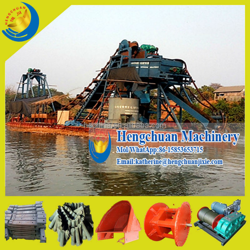 China Widely Used Wet Sand or Dry Land Bucket Gold Mining Dredger for Sale