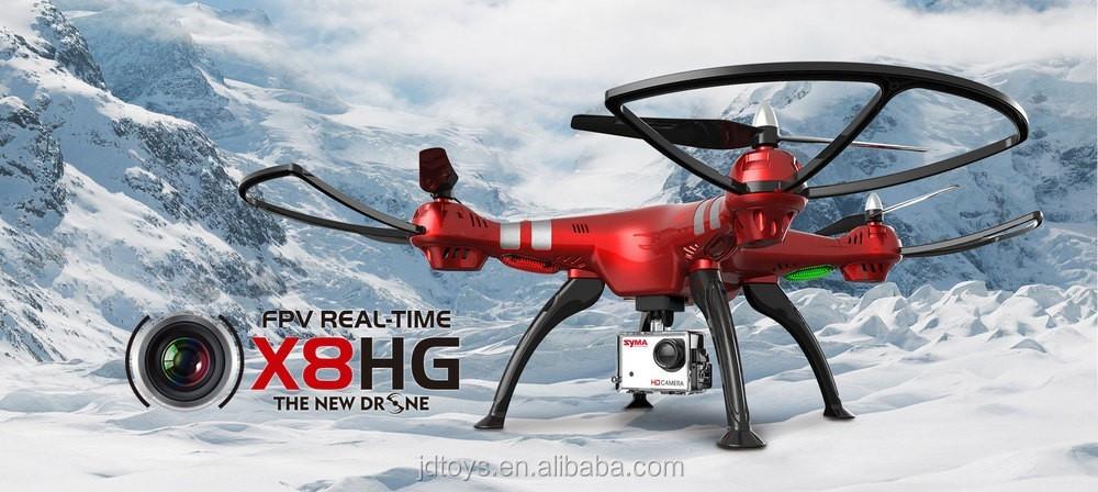 Original Syma X8HG FPV Real-time Drone Helicopter With 8.0MP Camera Long Distance Drone SYMA X8C X8W Altitude Hold RTF