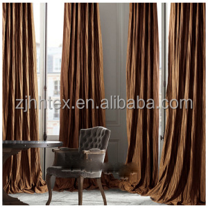 Crushed high quality cheap curtain fabric textiles , latest curtain fashion designs