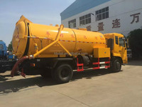 10000 liters tianjin 4x2 vacuum sewage cleaning truck