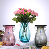 Home Artificial Smoky Grey Blue Red Vase Glass Desktop Decoration Glass Planter Glass Vases With Ears