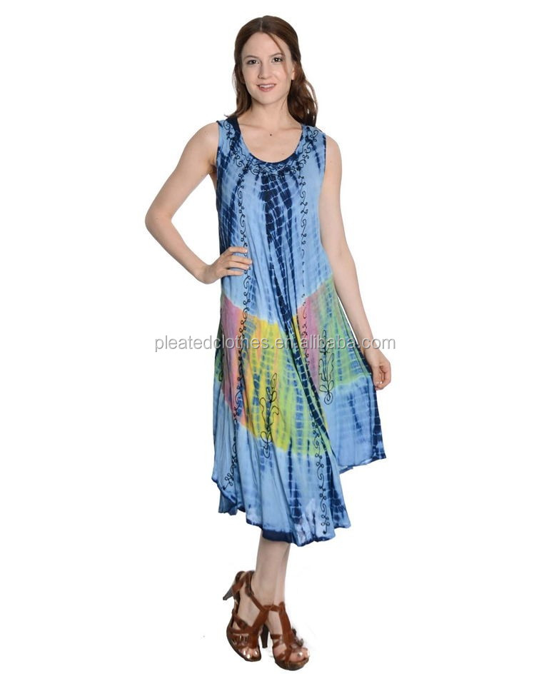 Wholesale Umbrella Tie Dye Color Free Size Indian Umbrella Dress For Women
