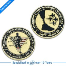 Custom make metal zinc alloy challenge coin