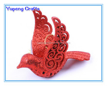 Red Plastic Christmas Peace Dove ,Metal Peace Dove Shape Ornaments