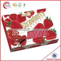 Colorful Chocolate Strawberry Boxes With Window