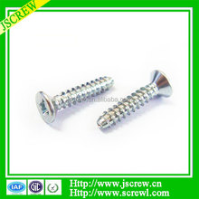 China factory directly sell Zinc plated Flat head tapping screws