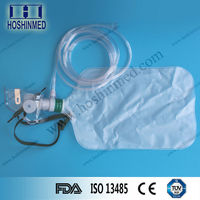 PVC material L M S standard oxygen mask with reservoir bag