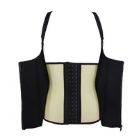 Back Support Posture Correction Vest Latex Corset with zipper