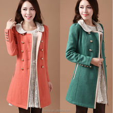 korean style fashion women coat / wholesale pattern blazer manufacture