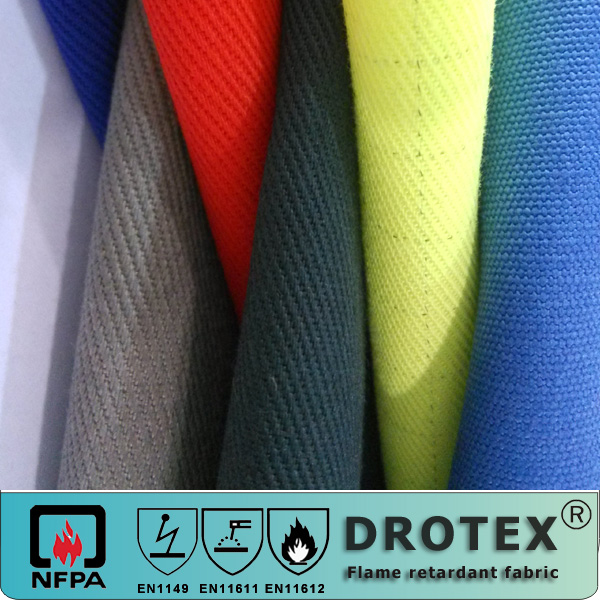Polyester/cotton or 100% cotton water proof fire proof fabric for workwear