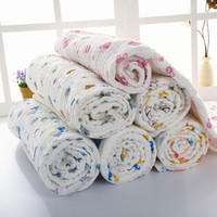 Alibaba China wholesale 100% Cotton Softtextile Custom Baby Print Muslin Blanket