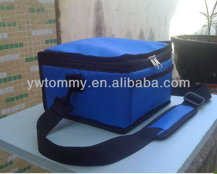 2013 Hot Sale Blue Aluminum Cooler Bags For Frozen Food With Shoulder