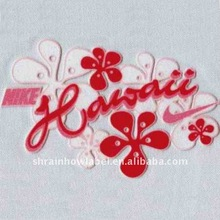 flower thermal transfer flocking main label for Intimate apparel