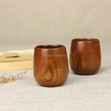Japanese Style Wholesale 100% Nature Wooden Tea Cup Eco-Friendly Wood Cups Coffee Cup