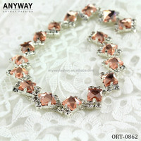 DIY bling bling rhinestone craft chain for Garments Shoes and Bags
