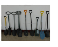 types of shovel with short fiber handle