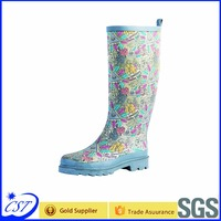 High quality fashion rain boots rubber boot for wholesale