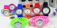 Hot selling most vogue candy color waterproof silicone bracelet watch