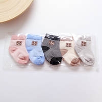 Simple design small printed baby socks made in china