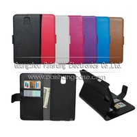 Wallet flip leather case for samsung Galaxy note 3 N9000
