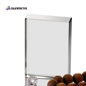 Sunmeta High Quality Directly Factory Hot Selling blank glass award 80*60*20MM BSJ-01