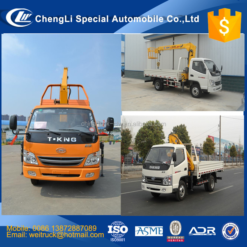 Factory direct supply T-king SQ2 2 ton small crane for truck, crane dump truck, truck mounted crane