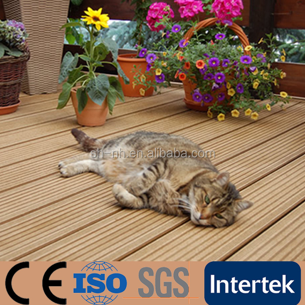 Hot Sale in Poland Embossment WPC Decking for Home Garden