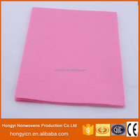 strong absorbent nonwoven fabric cleaning cloth( viscoseJ&polyester )