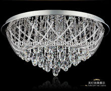 clear K9 crystal retractable ceiling light grand event decoration