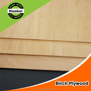 Aeroplanes Grade 0.5mm thickness Birch Plywood