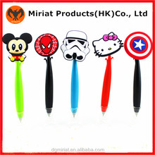 Hot Selling Products Cartoon Shaped Soft Plastic Pencil Topper For Graduation