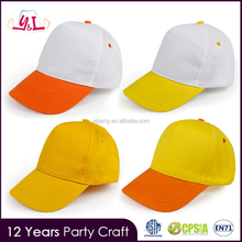 Agenda 2016 100% Cotton Duck Yellow White Custom Hats Babies Kids Softtextile Baseball Cap