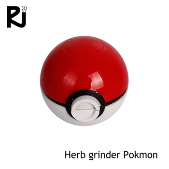 New 2018 product idea pokemon weed plastic cnc herb grinder