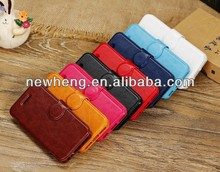 new design crazy horse pattern wallet stand leather case for iPhone 6
