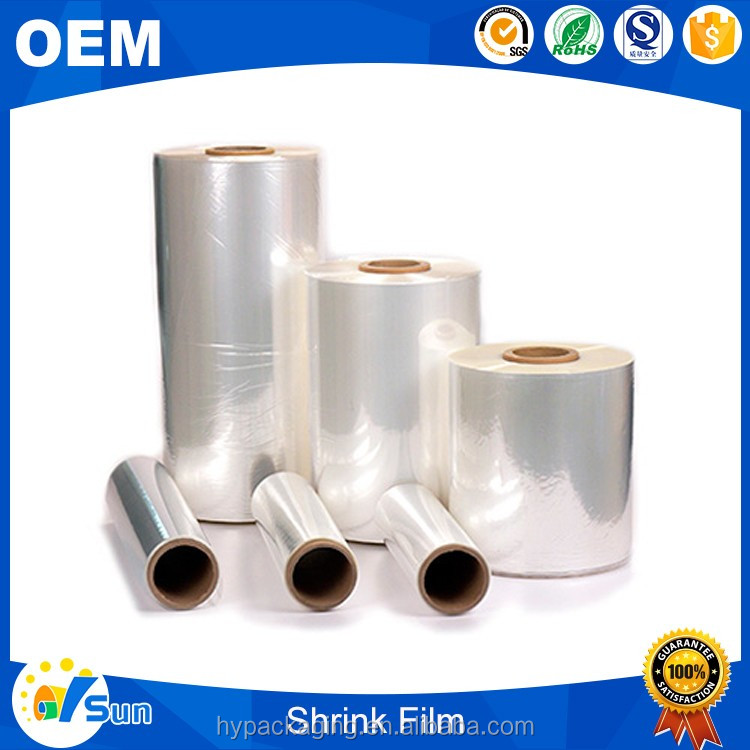 China Factory Transparent Packing Use Custom Size Heat Shrink PE Packing Film