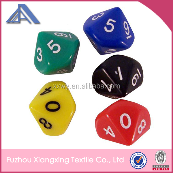 Promotional custom printed polyhedral dice