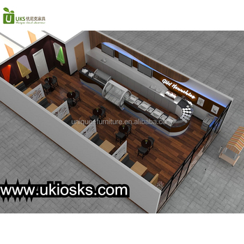 Retail ice cream shop interior design | wooden boba smoothie bar counter | roll ice cream shop furniture for sale