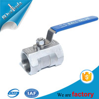 1/2 1 inch stainless steel SS 304 SS 316 one piece ball valve