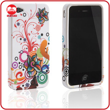 Hot Selling Stylish Color Flower Flexible TPU Skin Cover for Custom Printed Iphone Case 4 4G