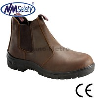 NMSAFETY boots safety S1 PU sole crazy horse leather work boots
